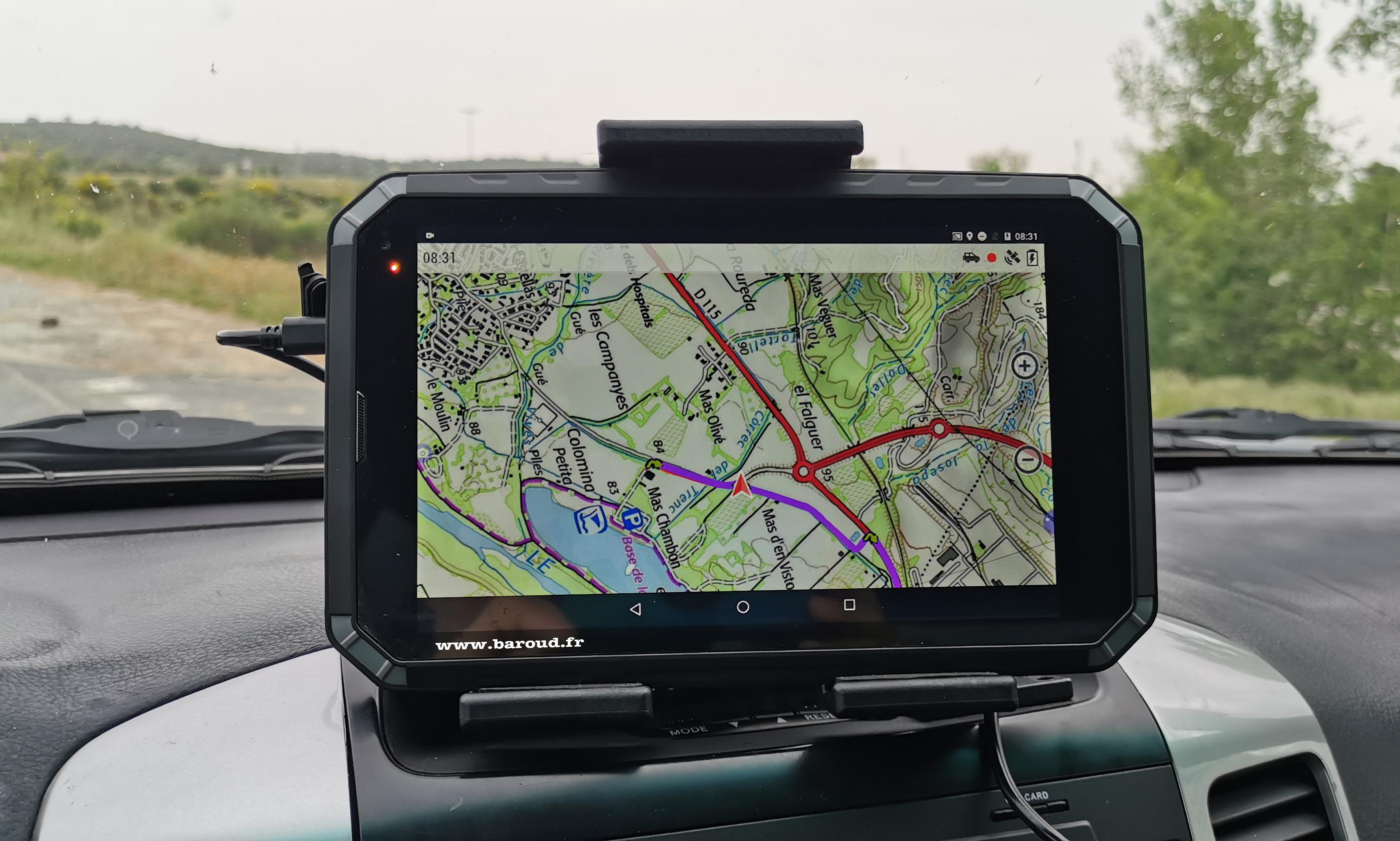 """GPS BAROUD 8"""" IP68"""