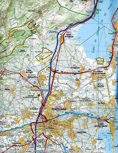 Carte IGN topographique de la France