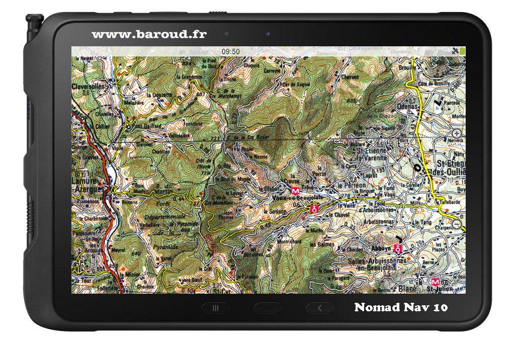 GPS TABLETTE NOMAD NAV 10