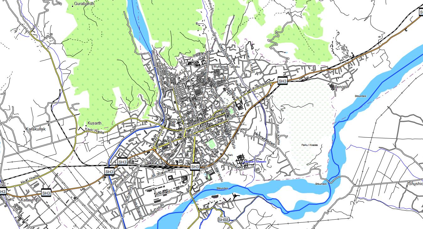 CARTE TOPO MAP ALBANIE