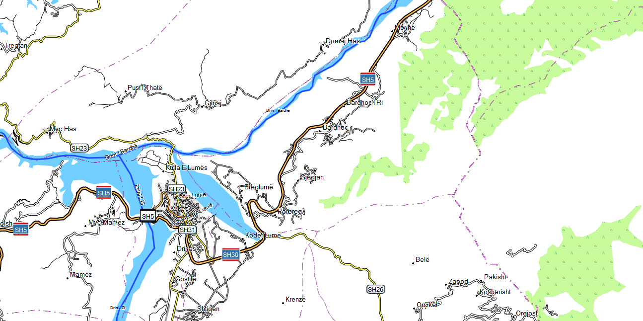 CARTE TOPO MAP GARMIN ALBANIE