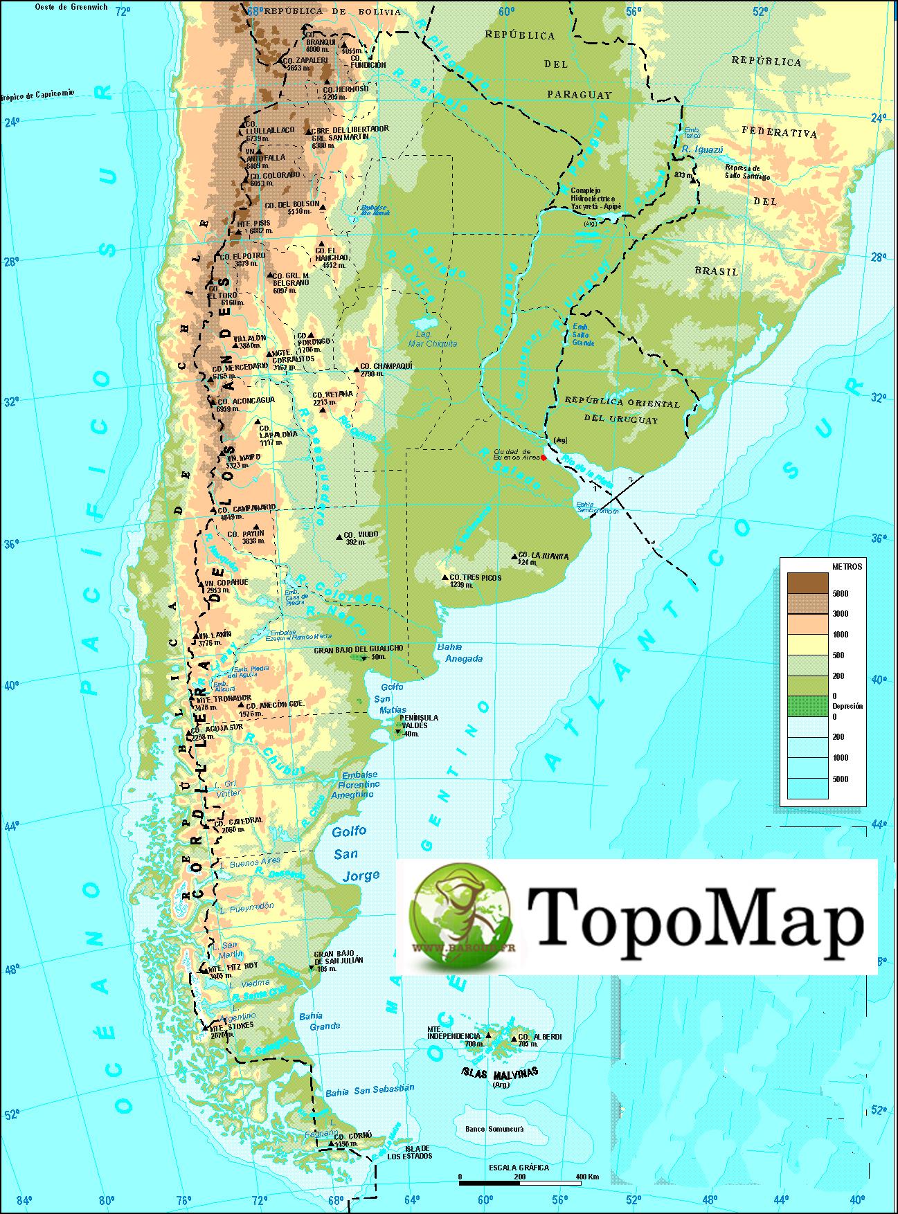 CARTE TOPO MAP GARMIN ARGENTINE