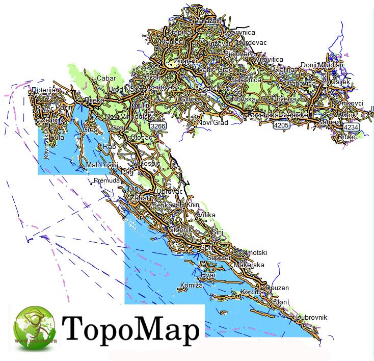 CARTE TOPO MAP GARMIN CROATIE