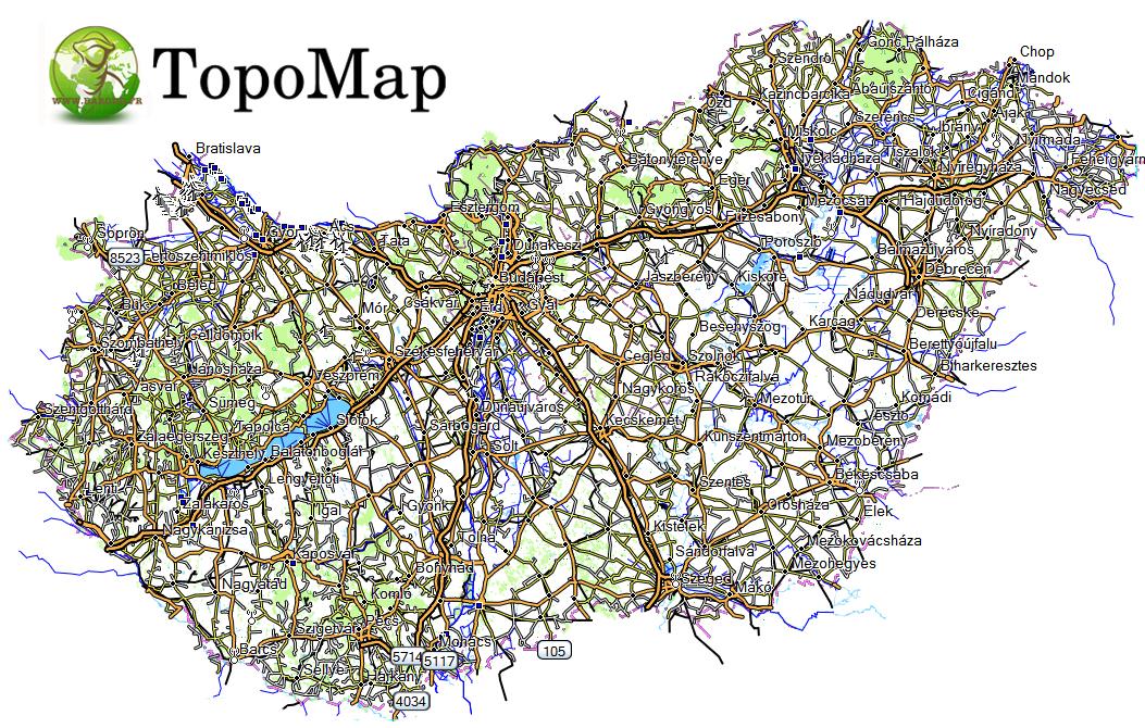 CARTE TOPO MAP GARMIN HONGRIE