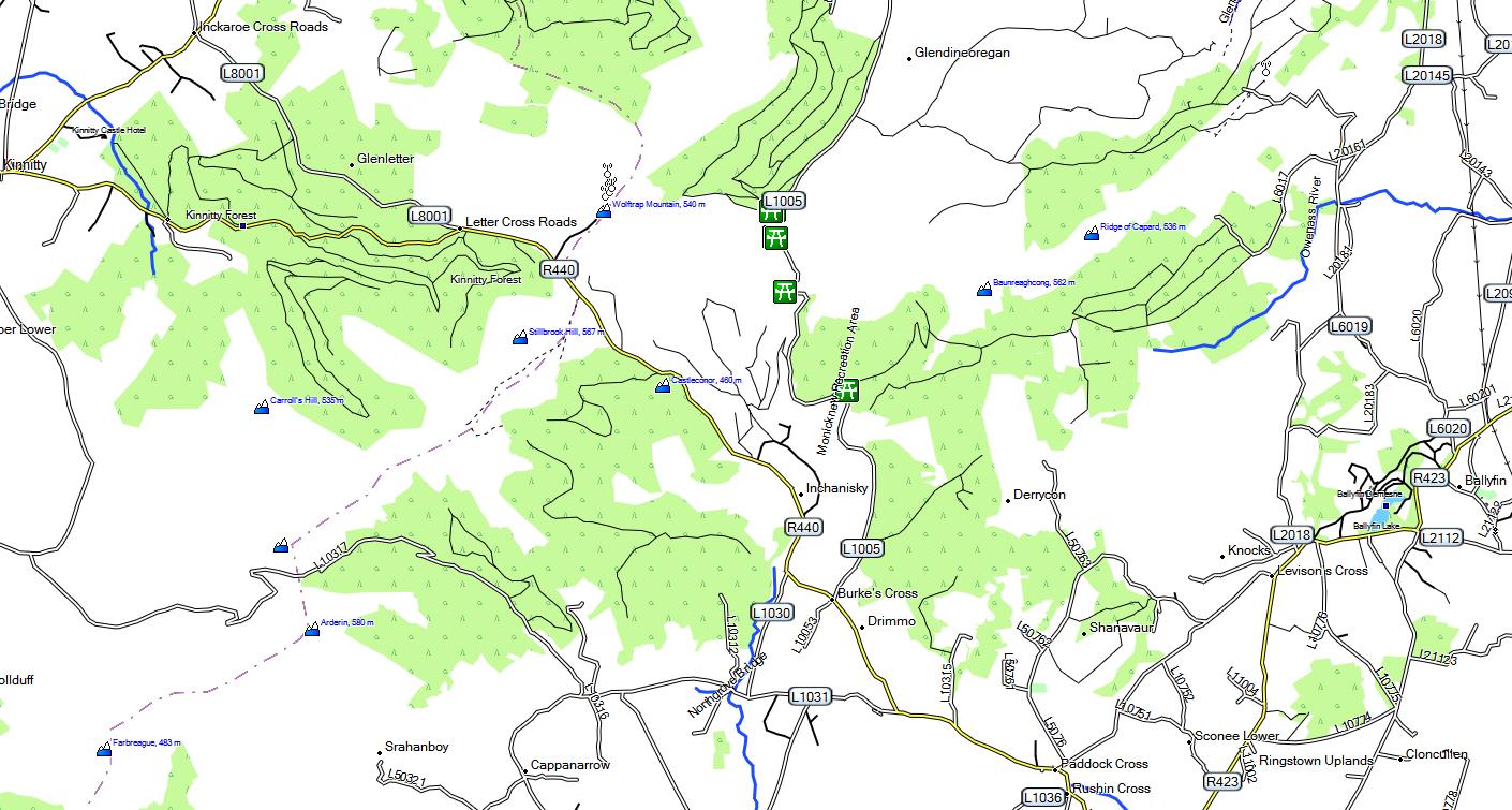 CARTE TOPO MAP GARMIN IRLANDE