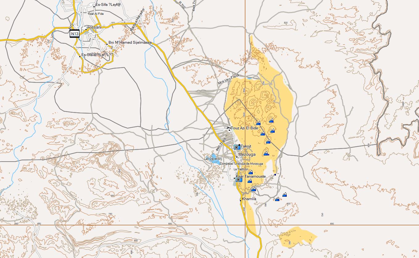 CARTE TOPO MAP MAROC