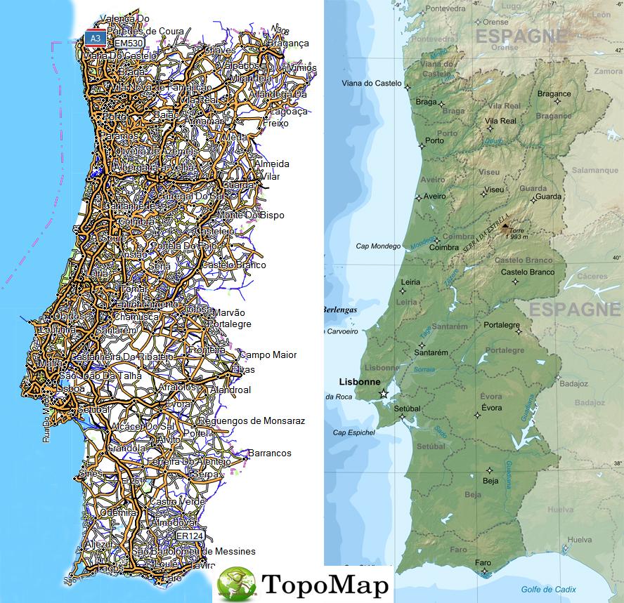 CARTE TOPO MAP GARMIN PORTUGAL