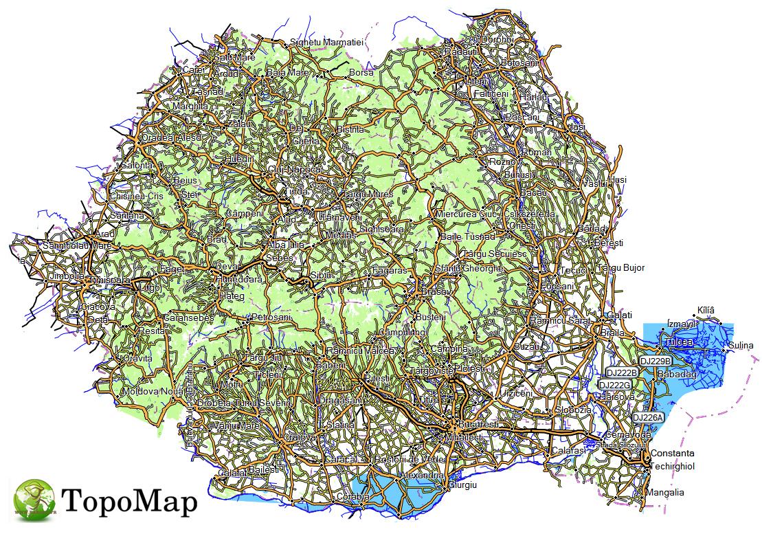 CARTE TOPO MAP GARMIN ROUMANIE