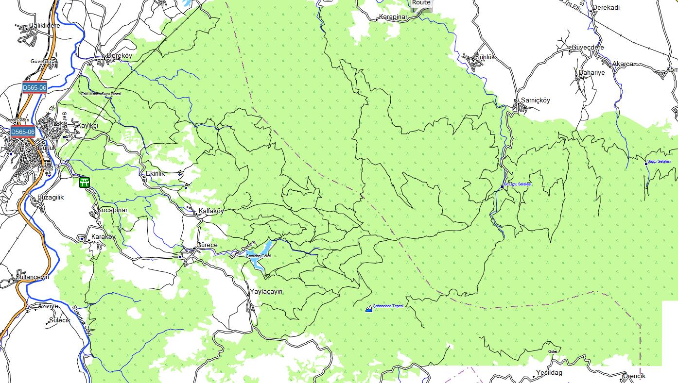 TOPO MAP GARMIN TURQUIE