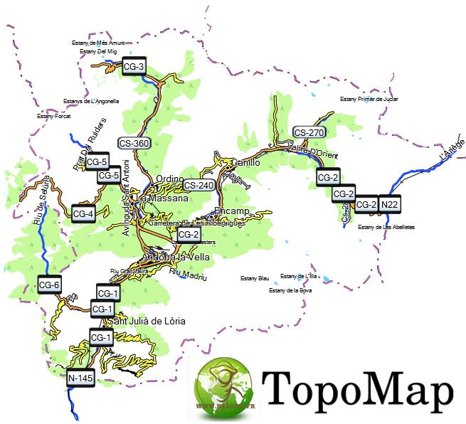 CARTE TOPO MAP GARMIN ANDORRE