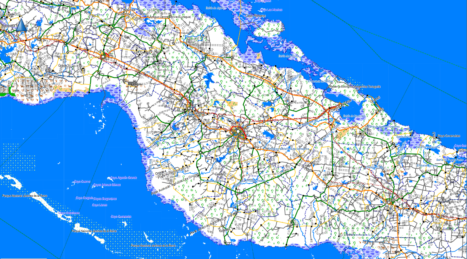 CARTE TOPO MAP CARAIBES