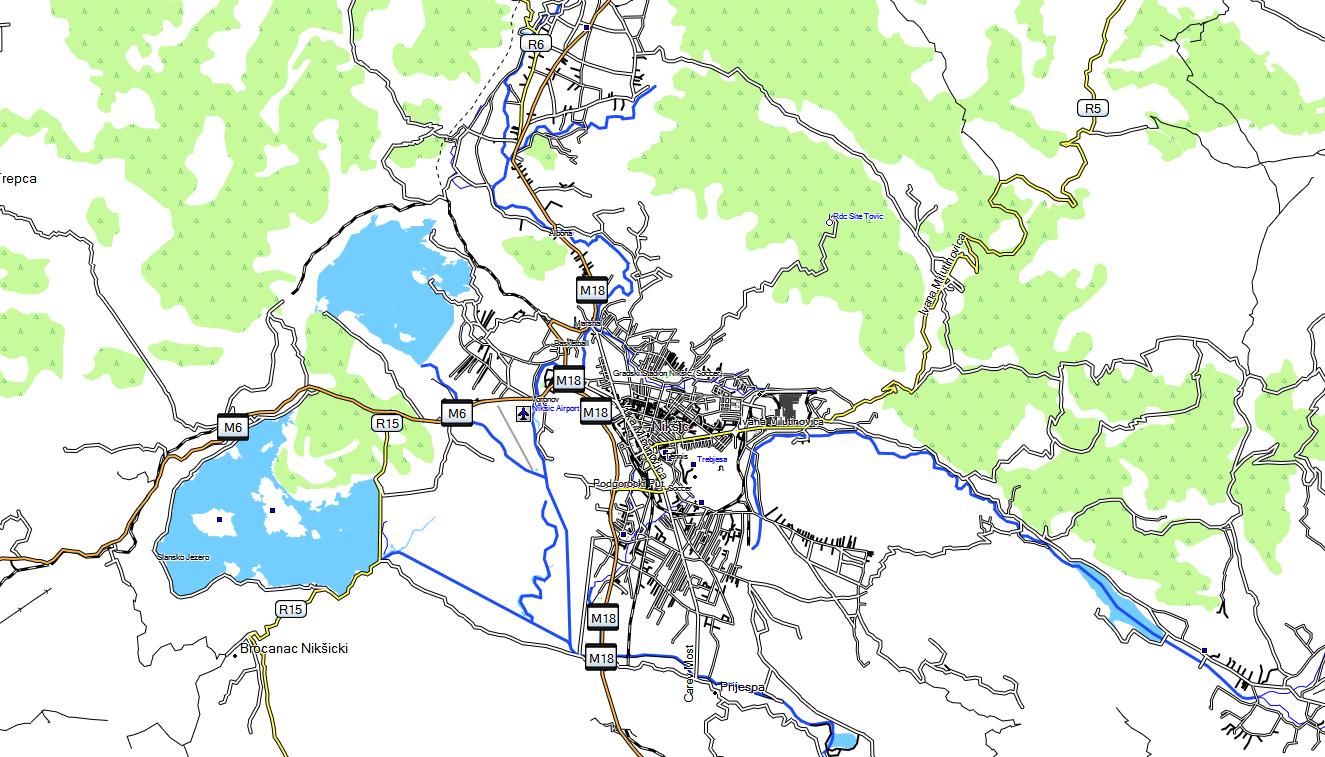 CARTE TOPO MAP GARMIN MONTENEGRO